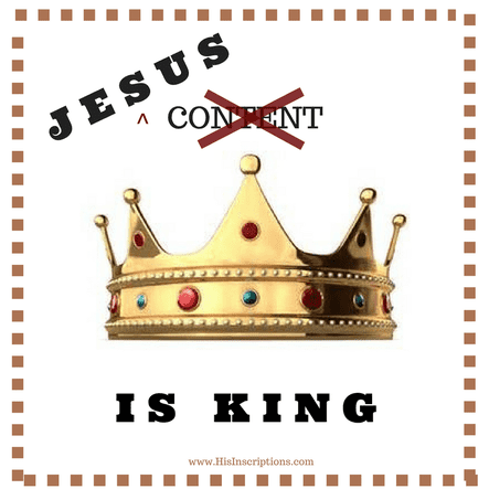 Jesus (Not Content!) is King. Practical Advice for Christian Bloggers. Article written for Christian writers and bloggers by Deborah Perkins of HisInscriptions.com. Debunking the myth that content is king, and learning to be led by the Holy Spirit in publishing endeavors.