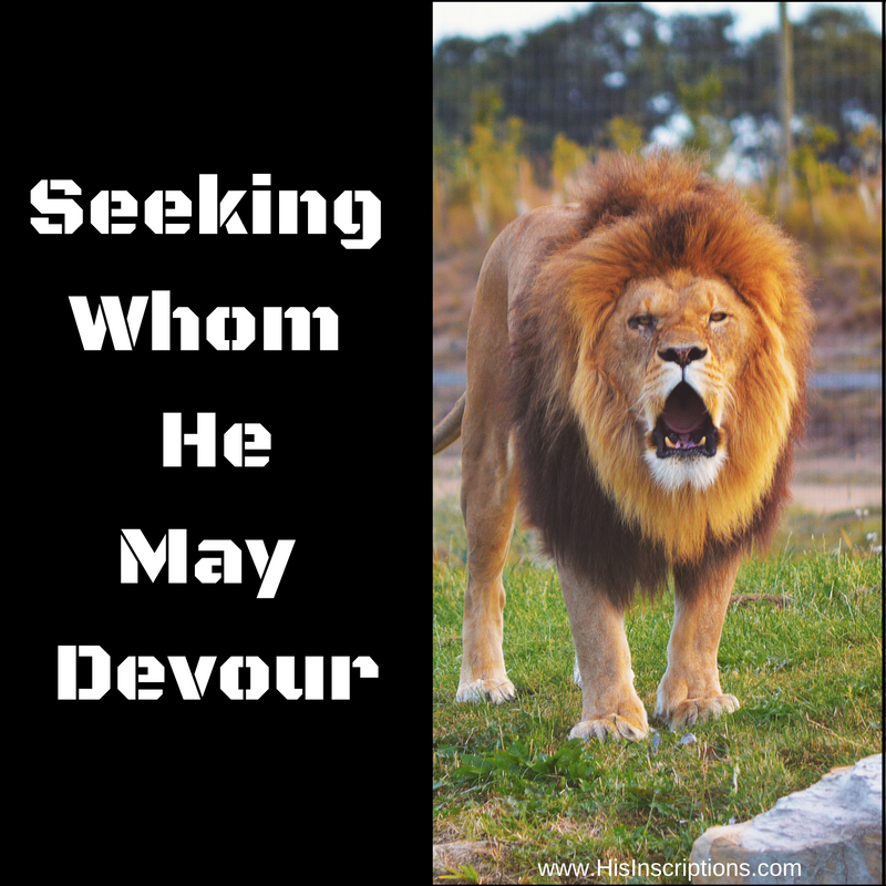 The enemy is still prowling around like a roaring lion, seeking whom he may devour. Don't be his next victim! Strategies for an overcoming Christian life, by Deborah Perkins of His Inscriptions.