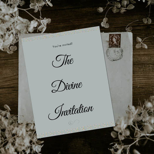 The Divine Invitation - Blog post from Deborah Perkins of HisInscriptions.com. You are invited to enter in to deeper relationship with God! Salvation is just the beginning. Read more about God's multi-faceted invitation for #Christian believers.