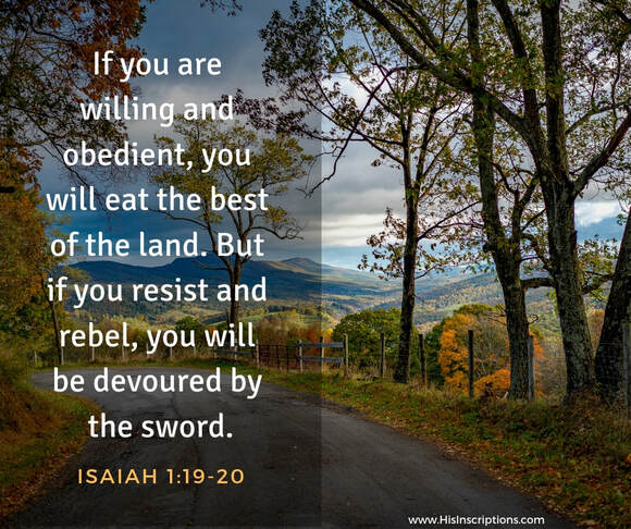 Roadblocks to Revival, by Deborah Perkins: If you are willing and obedient, you will eat the best of the land. Isaiah 1:19-20