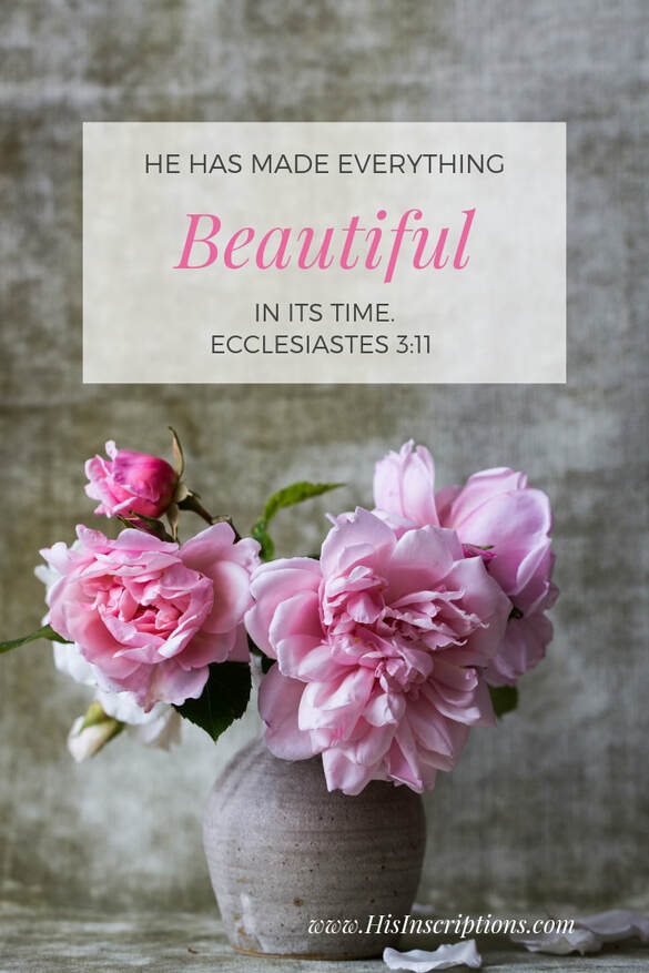 Photo Scripture: He has Made Everything Beautiful in its Time