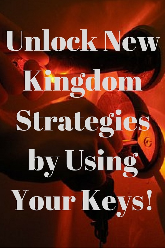 UNLOCK NEW STRATEGIES FOR THE KINGDOM OF GOD BY USING YOUR KEYS! Teaching by Deborah Perkins from HisInscriptions.com blog. Learn how to use the keys God has given you to build God's church. Prophetic word included in teaching.