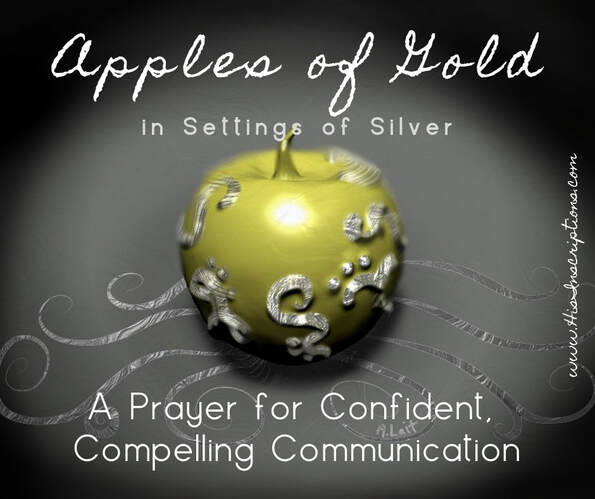 Picture: Apples of Gold in Settings of Silver by Deborah Perkins