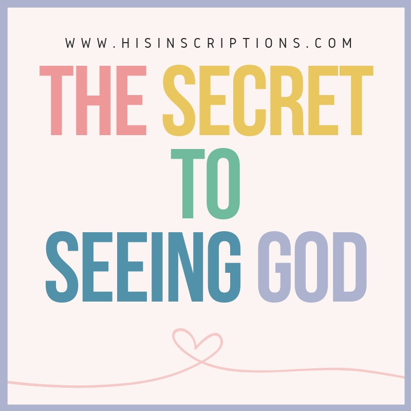 In the Sermon on the Mount, #Jesus tells His disciples a secret that will enable them to see #God. Do you know what it is? Read more in this article from Deborah Perkins at His Inscriptions.
