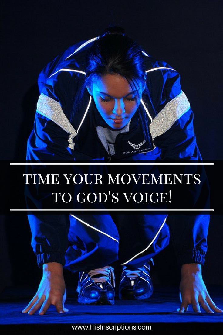 Do you need breakthroughs in your life? Time Your Movements To God's Voice! (Running Photo). Prophecy from Deborah Perkins of His Inscriptions.comi